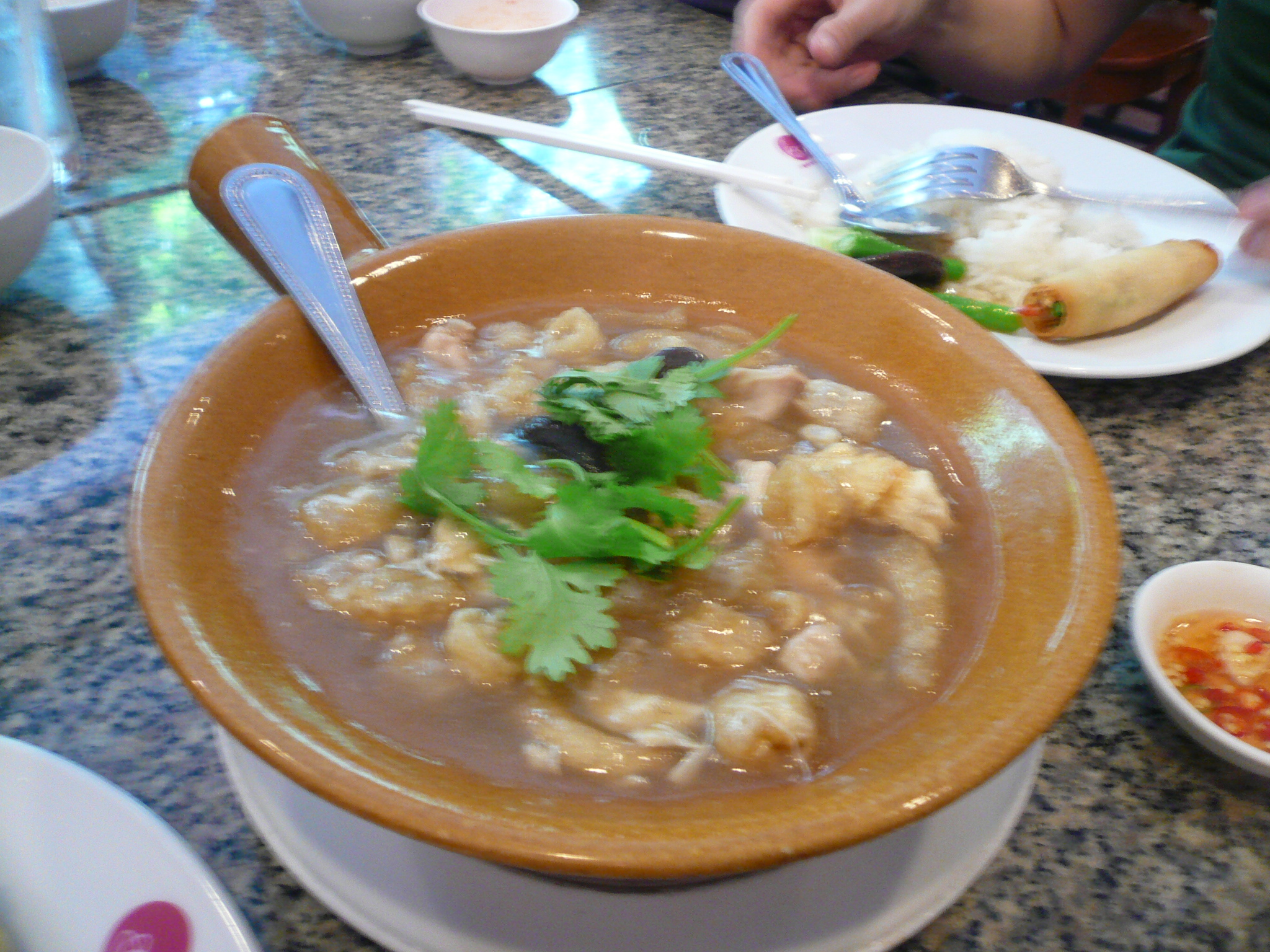 Fish Maw Broth. Leave you feeling rich and very satisfied :P