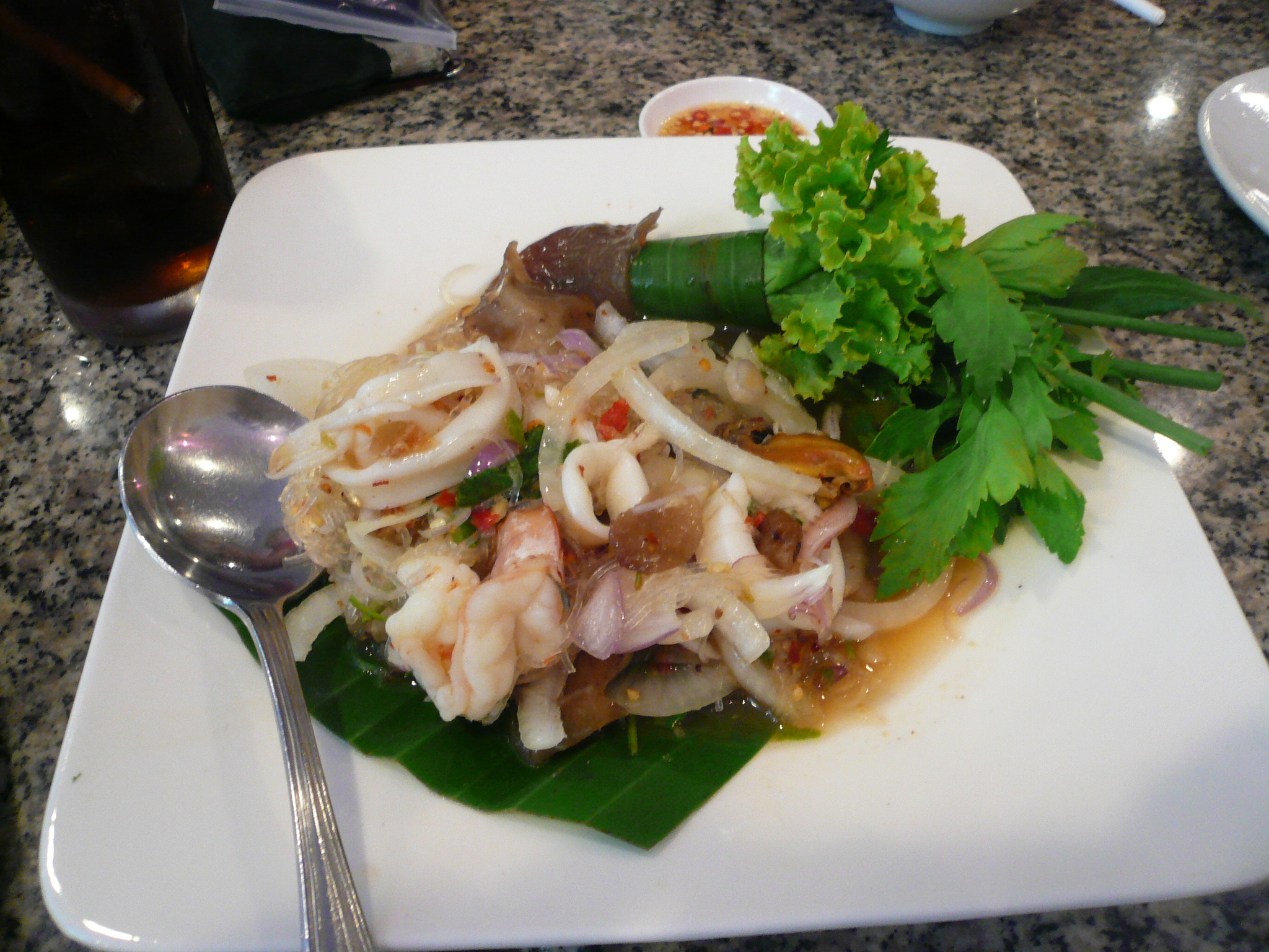 Sotong Salad for the blur and tangy