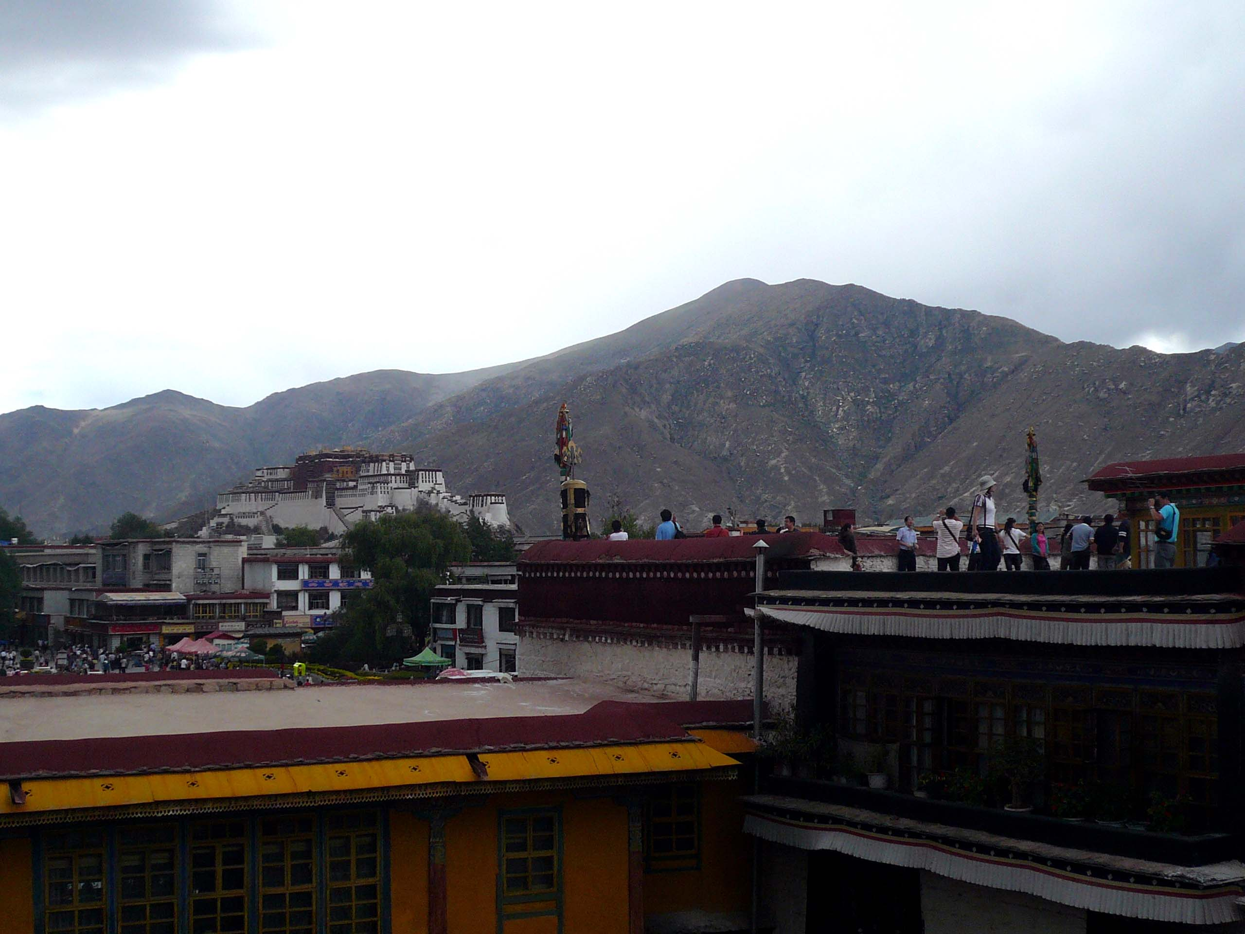 You can actually see the Potala Palace from the temple roof top platform
